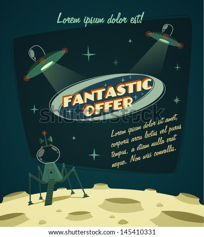 Fantastic offer. Cosmic space background - stock vector