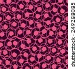 Fantasy abstract seamless pattern made with ink. Modern design. Vector illustration. Simple wallpaper with pink  circles.  - stock vector