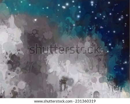 Fantasy clouds with blue sky. Abstract illustration. - stock vector
