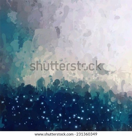 Fantasy clouds with sky. Abstract illustration. - stock vector