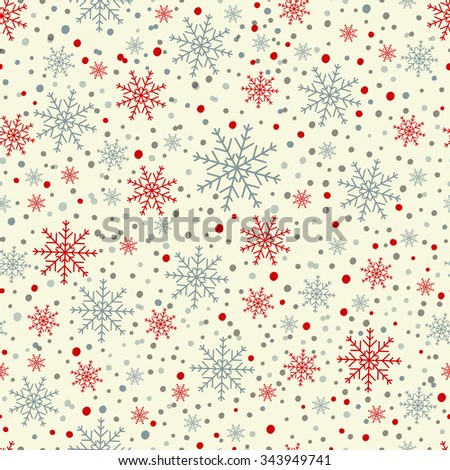 Fantasy colored abstract snowfall. - stock vector