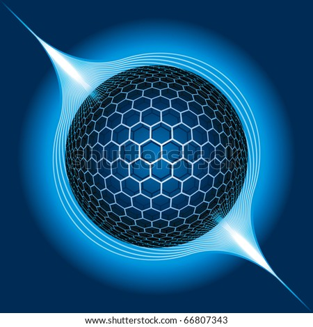 Fantasy Electric Sphere. Vector Illustration - stock vector
