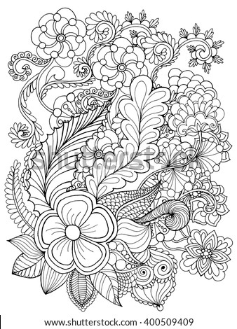 whimsical flower coloring pages - photo#12