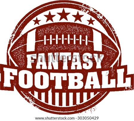 Fantasy Football Sports Stamp