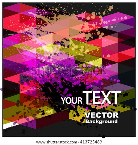 Fantasy  vector background with colorful  blots. Abstract floral elements . - stock vector