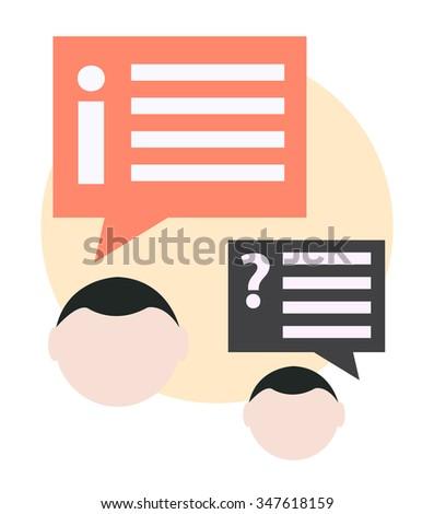 FAQ business concept - stock vector