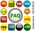 FAQ buttons collection. Vector set. - stock photo