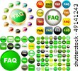 FAQ buttons for web. Vector great collection. - stock vector