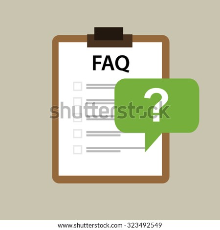 faq frequently asked question icon vector mark  - stock vector