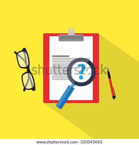 Faq icon, flat material illustration - stock vector