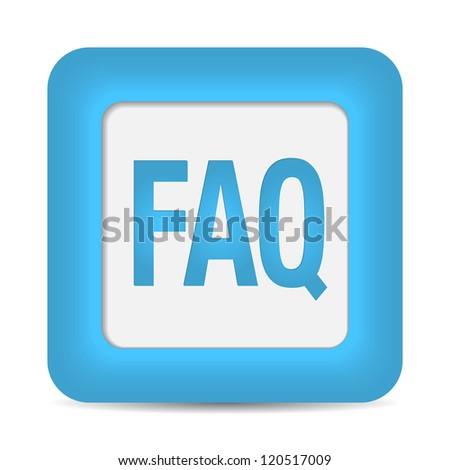 faq icon. vector - stock vector