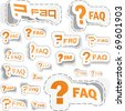 FAQ sticker collection. Great collection. - stock vector