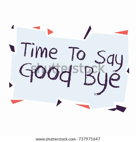 Farewell Card All Best Template Stock Photo Photo Vector