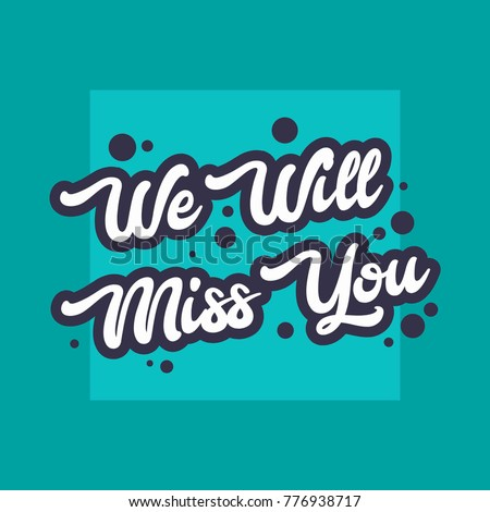 Farewell card we will miss you stock vector 776938717 for Farewell banner template