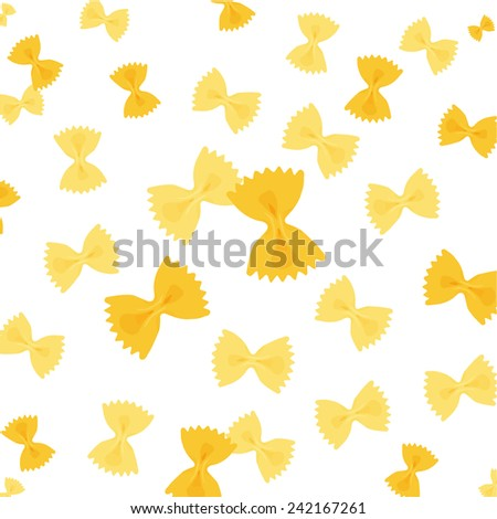 farfalle pasta wheel - stock vector