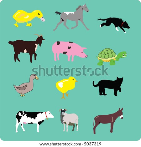 farm animal vector collection - stock vector