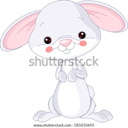 Farm animals. Illustration of cute Bunny - stock vector