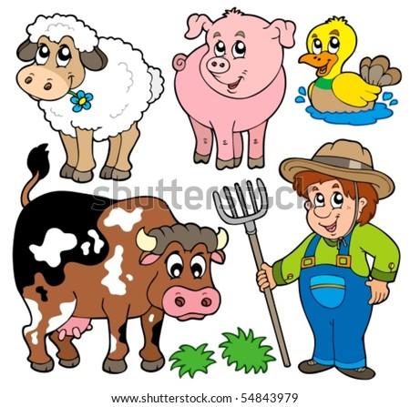Farm cartoons collection - vector illustration. - stock vector