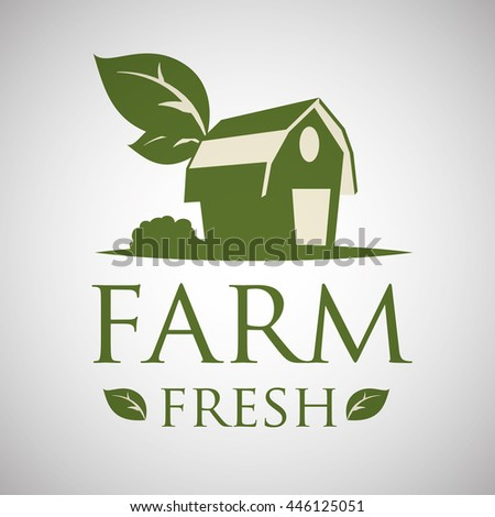 Farm Fresh concept with icon design, vector illustration 10 eps graphic.