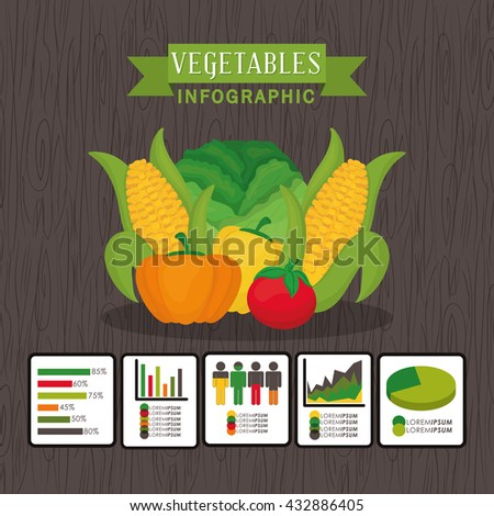 Farm fresh design. organic food icon. Colorful illustration , vector