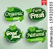 Farm fresh food label, badge or seal - stock