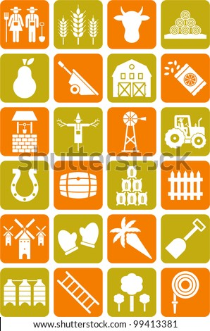 Farm icons - stock vector
