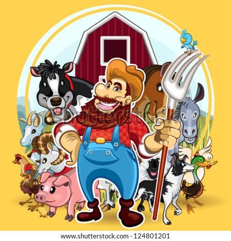 Farm Life - stock vector