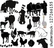 farm livestock farming vector - stock photo