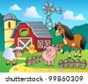 Farm theme image 4 - vector illustration. - stock photo