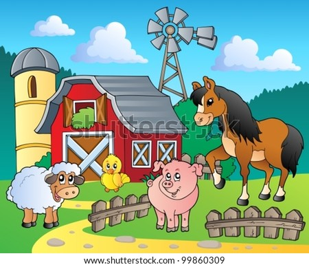 Farm theme image 4 - vector illustration. - stock vector