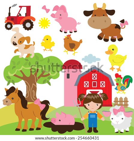 Farm vector illustration - stock vector