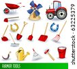 Farmer clip art collection - stock vector