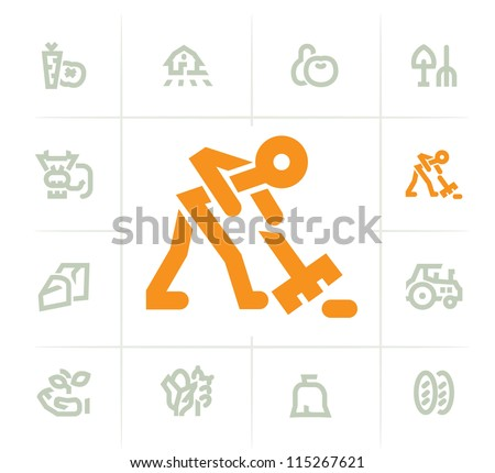 Farming Icons - stock vector