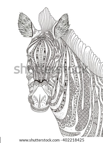 Stock images royalty free images vectors shutterstock for Coloring pages of zebra stripes