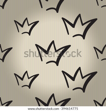 Fashion attractive wedding background with crown. Beautiful hand drawn sketch on vintage background. Fashion, style, beauty, advertising greeting card, banner, design - stock vector