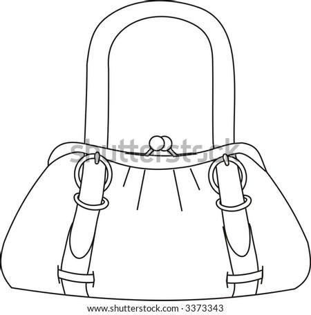 fashion bag in vectorial art - stock vector