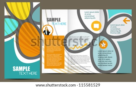 Fashion brochure - stock vector