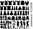 fashion clothes vector - stock vector