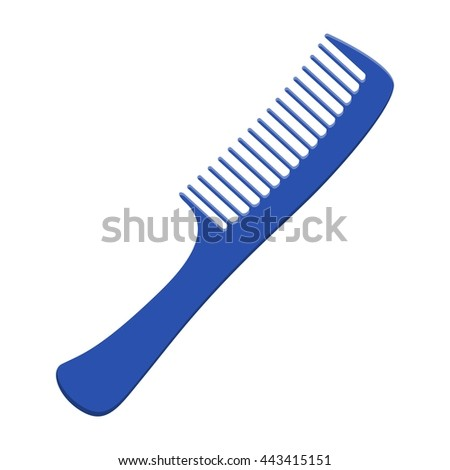 Fashion comb icon and style comb hairdresser care icon equipment. Hair barber comb for styling accessory in flat style isolated on white background. Care for themselves - stock vector