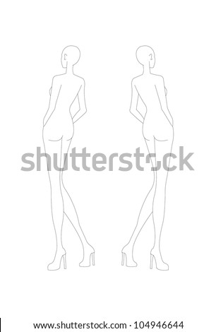 Fashion croquis fashion figure fashion model stock vector fashion croquis fashion figure fashion model template pronofoot35fo Gallery