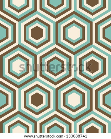 Fashion geometrical pattern in retro colors, seamless vector background. For fashion textile, cloth, backgrounds. - stock vector