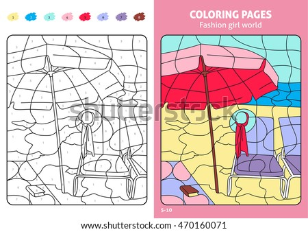 Fashion Girl World Coloring Pages Kids Stock Vector 470160071 ...