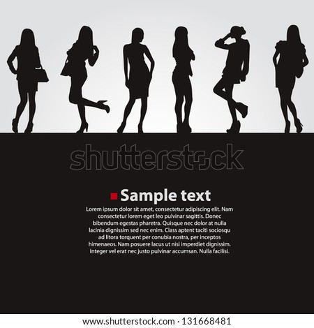 Fashion girls vector backgrounds - stock vector