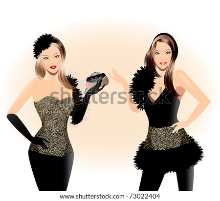 Fashion illustration-Fashion girl - stock vector