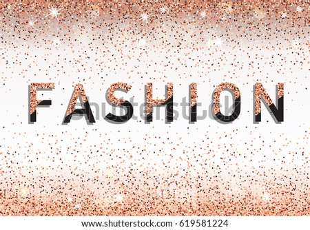 Fashion invitation card fashion show vip stock vector 619581224 fashion invitation card fashion show vip rose gold glitter background vector illustration stopboris Images