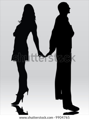 fashion man and sexy woman