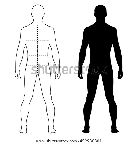 male body silhouette stock images royaltyfree images