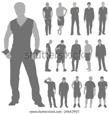 fashion man set vector