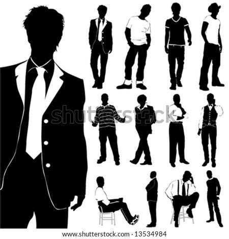 fashion men vector - stock vector