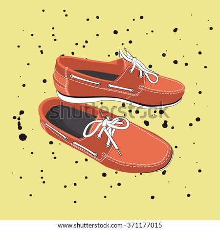 fashion modern flat shoe. casual shoes. vector - stock vector